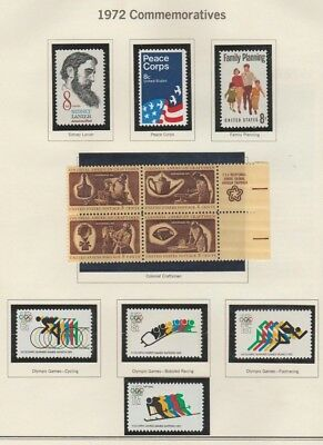 U.S. 1972 Commemorative Year Set, 30 items (4 scans) Complete, mNH Fine