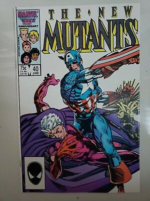 The New Mutants #40 (1986) Marvel Comics Magneto Vs The Avengers! Warlock!