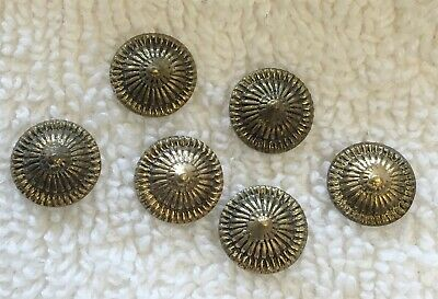 Vintage 1940's Hand Made Silver Metal 9Mm Concho Design Stampings 14 Pcs