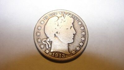 1913-S Barber Half Dollar - Good Details