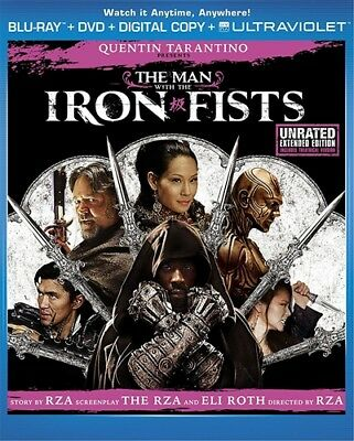 THE MAN WITH THE IRON FISTS New Blu-ray + DVD Unrated + Theatrical Versions