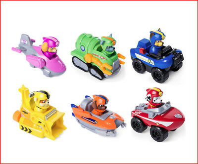 Set 6- Paw Patrol SEA PATROL Rescue Racers Rubble Skye Zuma Marshall Rocky Chase