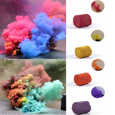 Magic Colorful Smoke Cake Bomb Round Effect Show Photography Stage Aid Toy Tool