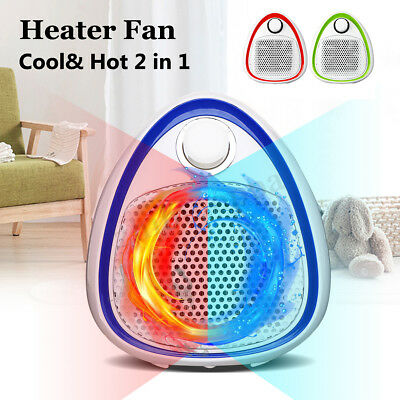 Portable 1200W  Electric Space PTC Heater 3 Settings Air Fan Forced Adjustable