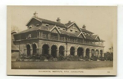 Jubbulpore - Regimental Institute - old India real photo postcard