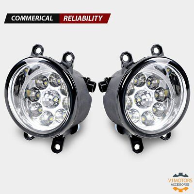 (2) LED Fog Lights H8 H9 H11 6000K Clear Left Right for Toyota Camry Yaris Lexus