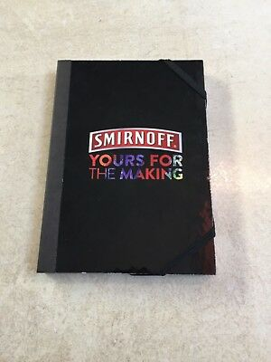 Smirnoff Vodka Yours For The Making Genuine Diageo Black Book Notebook Ice