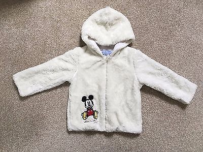 Disney White Girls Mickey Mouse Hooded Lining inside Jacket  2 years