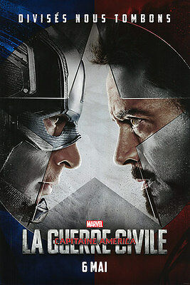 Captain America Civil War - original DS movie poster D/S 27x40 - FRENCH Adv