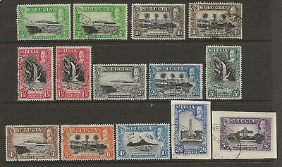 St Lucia  Sg 113/23  1936 G.v. Set To 5/-  All Other Perf Variations  Good/fine