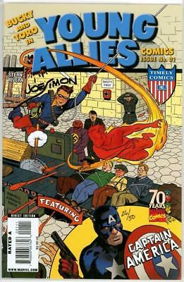 Young Allies #1 Df Dynamic Forces Variant Signed Joe Simon Coa Ltd 50