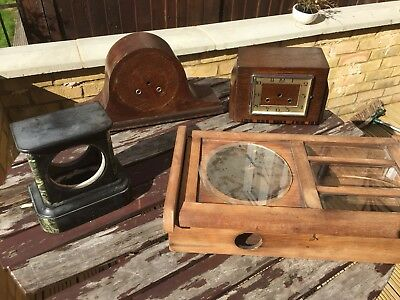 Antique Clock Cases Job Lot