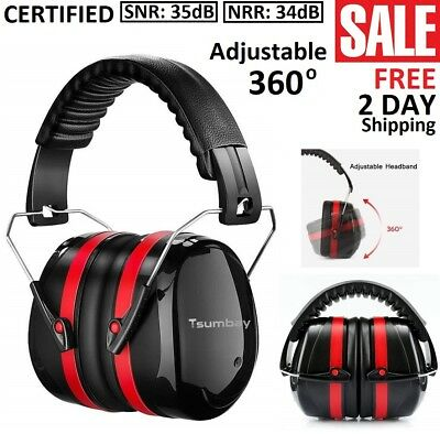 Hearing Protection Ear Muffs Noise Reduction Safe Shooting Hunting Construction