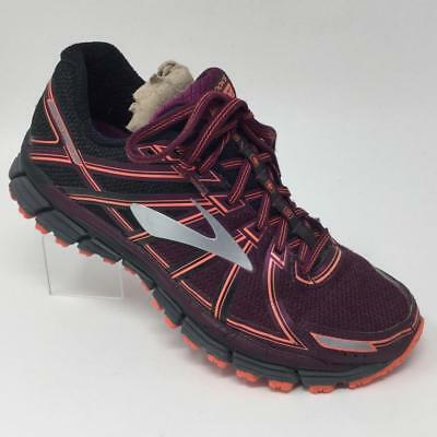 5143db1448239 BROOKS ADRENALINE ASR Running Shoes Womens Size 8.5 Gray Pink ...