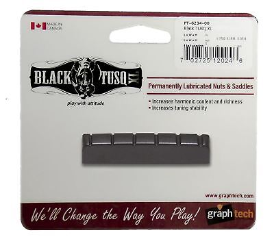 Graphtech Black Tusq XL Nut Slotted 1 3/4inch For 6 string Acoustic or Electric