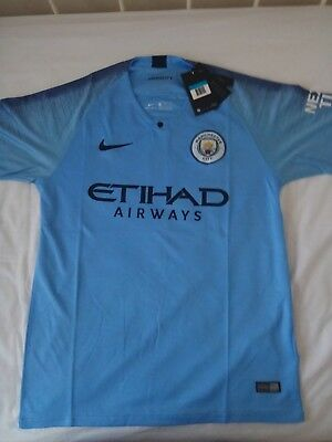 Manchester City Home Shirt 2018/19 with tags/packaging. Same day postage. S/M/L