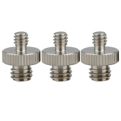 3x 2cm Threaded Tripod Screw Adapter 1/4 To 3/8 Mounting Camera Screw Adapter