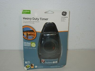 Ge 15114 Outdoor 24 Hour Programmable Weather Resistant 2 Outlet Timer