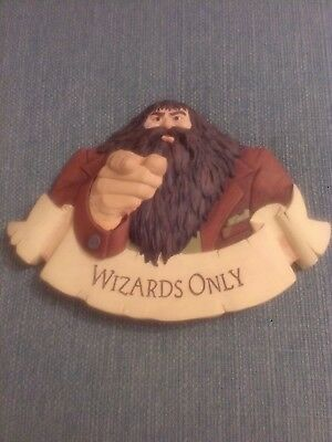 Harry Potter Wizards Only Wall Plaque Sign Hagrid