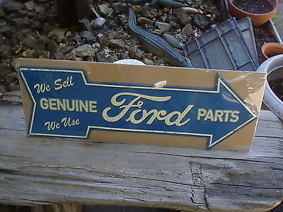 X-Large  Ford We Sell / We Use  Genuine Ford Parts  Metal/steel Sign