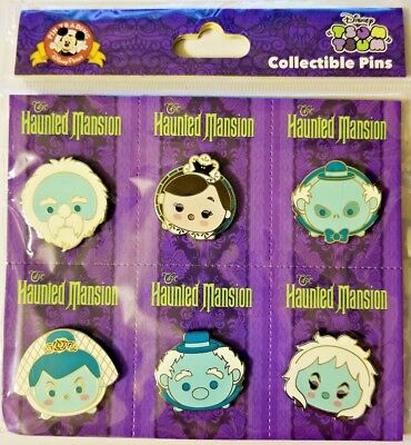 Disney Parks EMOJI Collectible Pins HAUNTED MANSION 6 Pc - NEW