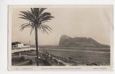 Gibraltar, Artistic View of Rock from Spanish Shores RP Postcard, B192