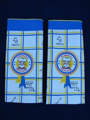 Swedish Chef Cloth Napkins Placemats Muppets Lot of 2