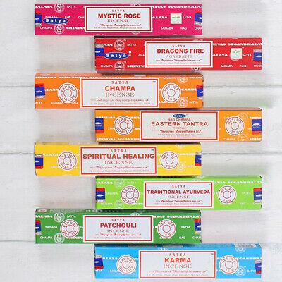 💖Satya Sai Baba Incense Nag Champa Sticks Joss 1,3,12 15g Packs Scent Mix Match