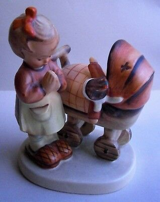 """Hummel Figurine """"Doll Mother"""" Girl with Doll in Carriage No. 67 made in Germany"""