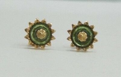 A Beautiful Pair Of Vintage 9ct Gold Peridot Earrings - Hallmarks & Makers Marks