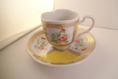 Vintage Avon European Tradition Germany Cup & Saucer Gold Yellow Flowers