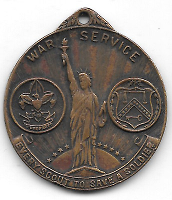 1918 Boy Scouts Medal, World War I,, For Service in Liberty Loan Campaign