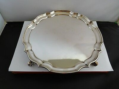 Lovely Quality English Sterling Silver Salver - A. Haviland-Nye 518G