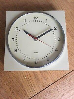 Vintage 1970's  Krups Kitchen Wall Clock