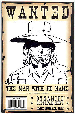 The Man With No Name The Good The Bad & The Uglier #1 D Mel Rubi sketch & signed