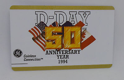GE 10 Units D-Day 50th Anniversary Year 1994 Prepaid Phone Card
