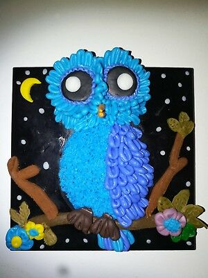 Mosaic Hand Made Owl. Made From Polymer Clay On A Black Tile....................