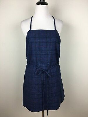 56f21a412f1fa3 Banana Republic Womens Dress Plaid Tunic Tie Waist Shirtdress XL Apron  Jumper