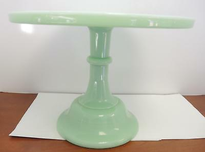 """Mosser Glass Traditional Style Jadeite Green Cake Plate - 12 1/2"""" Round"""