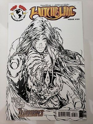 Witchblade #103 (2007) Top Cow Image Comics Michael Turner Bw Variant Cover Nm