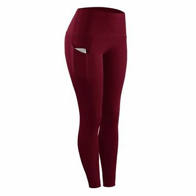 Women's Athletic Sports Pants with Pocket Yoga Gym Running Jogger Long Tights US