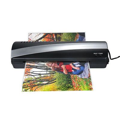 "Portable Hot Cold Thermal Laminator Machine Laminating 9"" for Home Office V0C8"