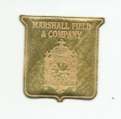 12 Lot~Marshall Field & Company Clock~Gold Colored Paper Glue Backed Stickers