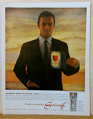 1963 magazine ad for Smirnoff - Robert Goulet, Smirnoff Mary Is the One I Love