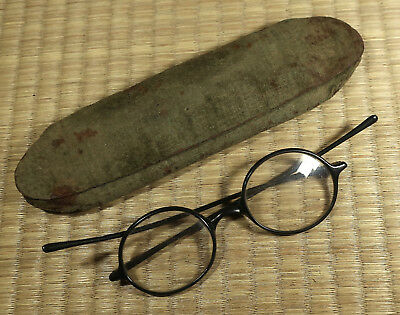Eye Glasses with Case / Japanese / Antique