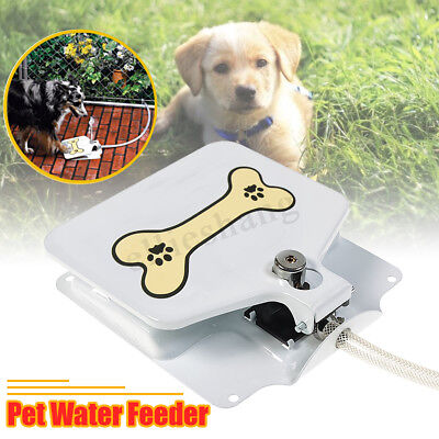 Automatic Doggie Dog Water Fountain Dispenser Sprinkler Paw Press Pet Activated