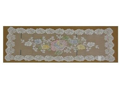 12 Piece Floral Lace Placemat and Table Runner Set
