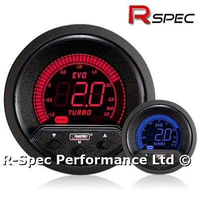 NEW 52mm Prosport EVO Red / Blue LCD 3 Bar Electronic Turbo Boost Controller Kit