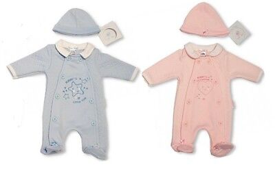 Tiny Baby Boys Girls Premature Babygrow Hat Set Mummy All in One 3 5 8 lbs 13 18