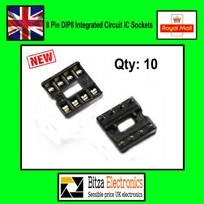 10PCS 8 Pin DIP8 Integrated Circuit IC Sockets UK Seller